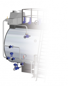 Boiler modulating feedwater control