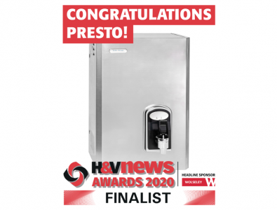 Hey Presto – makes the finals of the H&V News Awards 2020 - Commercial HVAC Product of the Year 2020.
